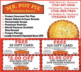 Frozen Gourmet Pot Pies