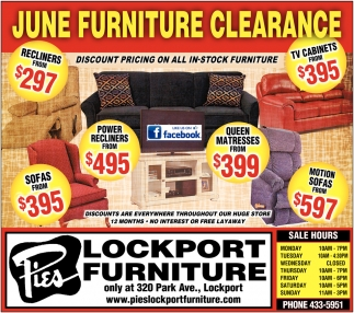 June Furniture Clearance