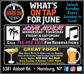 What's On Tap for June