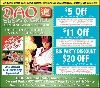 Dads and Grads Know Where to Celebrate... Party at Dao's!