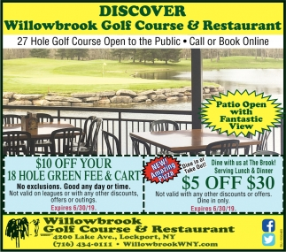 Discover Willowbrook Golf Course & Restaurant