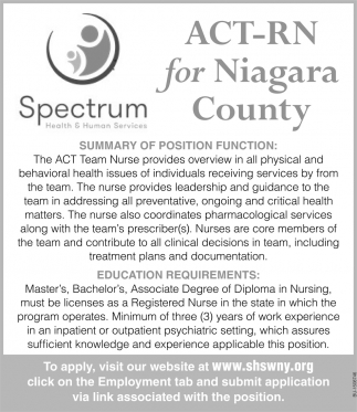 ACT-RN for Niagara County