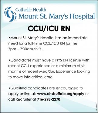 CCU/ICU RN