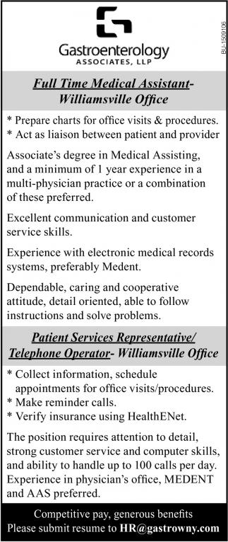 Medical Assistant & Patient Services Representative