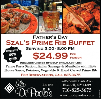 Father's Day Szal's Prime Rib Buffet