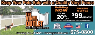 Keep Your Pets Safe with a Quality Vinyl Fence