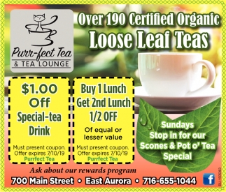 Over 190 Certified Organic Loose Leaf Teas