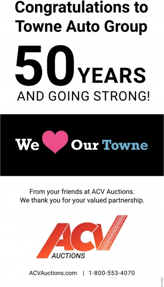 Buffalo Auto Group >> Congratulations To Towne Auto Group Acv Auctions