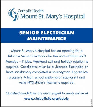 Senior Electrician Maintenance