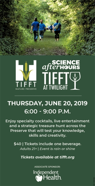 Science After Hours Tifft at Twilight