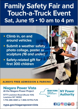Family Safety Fair and Touch-a-Truck Event
