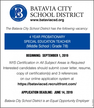4 Year Probationary Special Education Teacher