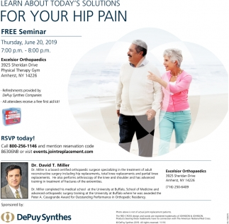 Learn About Today's Solutions for You Hip Pain