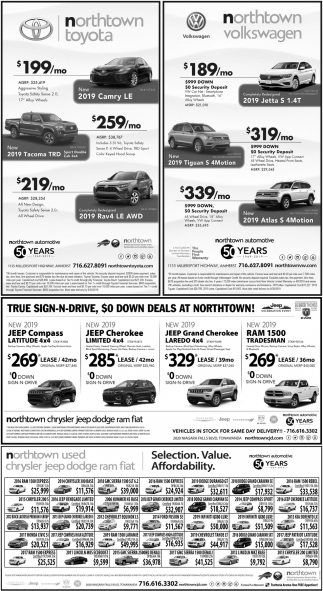 True Sign-N-Drive, $0 Down Deals at Northtown!