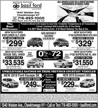 Unbelievable Savings on these Previous Courtesy Vehicles!