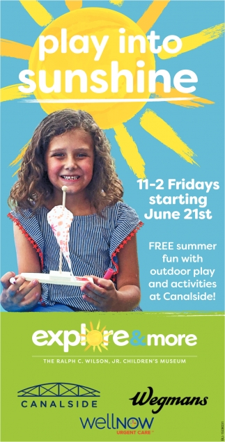 Free Summer Fun with Outdoor Play and Activities at Canalside