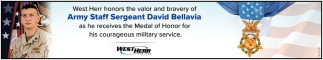West Herr Honors the Valor and Bravery of Army Staff Sergeant David Bellavia