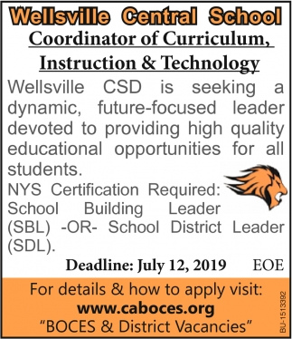 Coordinator of Curriculum, Instruction & Technology