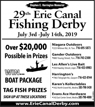 29th Erie Canal Fishing Derby