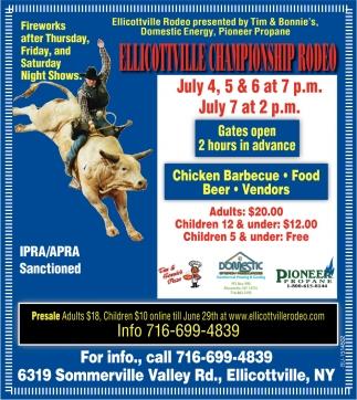 Ellicottville Championship Rodeo