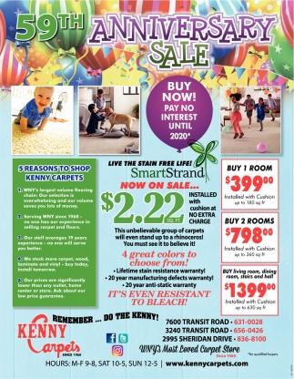 59th Anniversary Sale