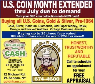 U.S. Coin Month Extended Thru July Due to Demand
