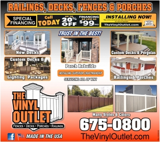 Railing, Decks, Fences & Porches
