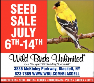 Seed Sale July 6th-14th
