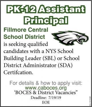 PK-12 Assistant Principal