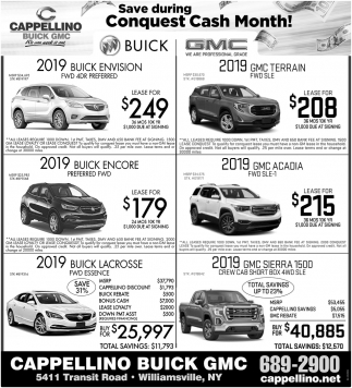 Save During Conquest Cash Month!