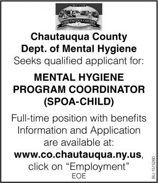 Mental Hygiene Program Coordinator