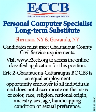 Personal Computer Specialist Long-Term Substitute