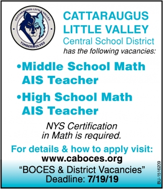 Middle School Math AIS Teacher & High School Math AIS Teacher Needed