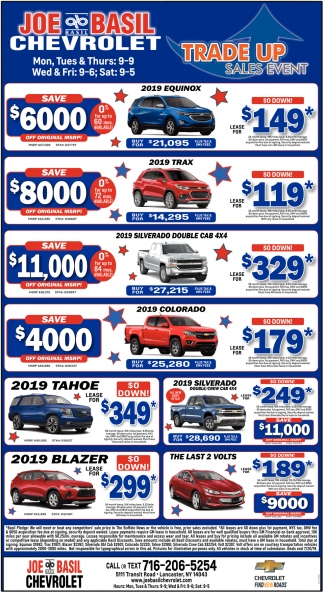 Trade Up Sales Event