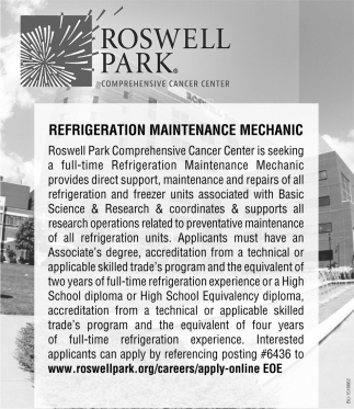 Refrigeration Maintenance Mechanic