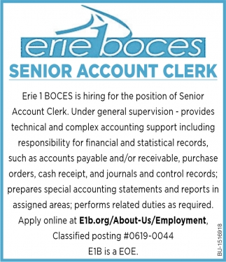 Senior Account Clerk