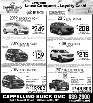 Save with Lease Conquest or Loyalty Cash!