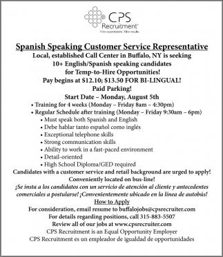 Spanish Speaking Customer Service