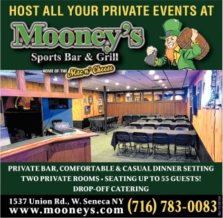 Host All Your Private Events at Mooney's Sports Bar & Grill