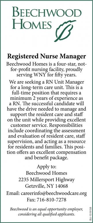 Registered Nurse Manager