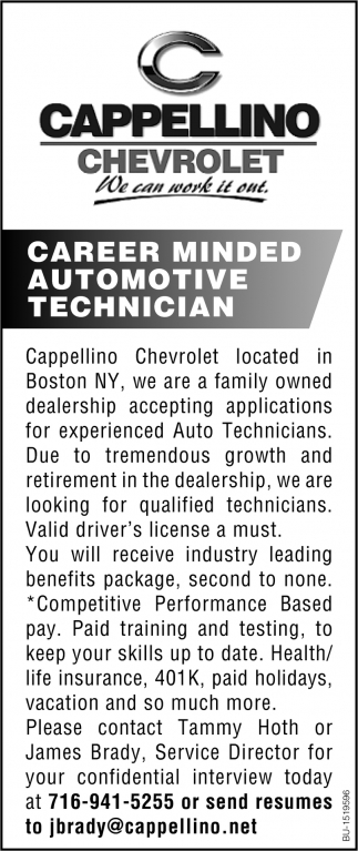 Career Minded Automotive Technician