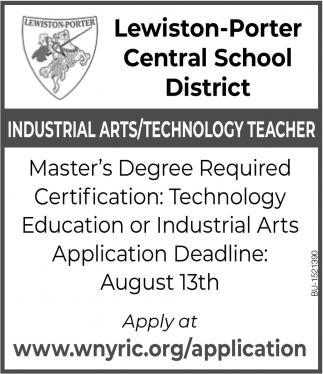 Industrial Arts/ Technology Teacher
