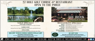 Discover Willowbrook Golf Course and the Amazing Menu & View at the Brook