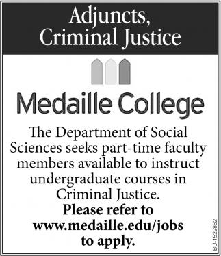 Adjuncts, Criminal Justice