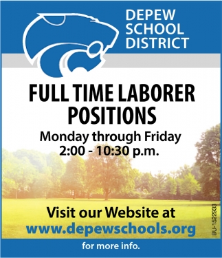 Full Time Laborer Positions