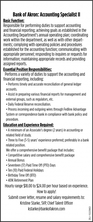 Accounting Specialist II