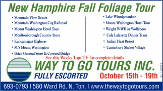 New Hamphire Fall Folliage Tour