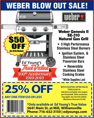 Weber Blow Out Sale!