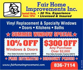 Summer Window Special