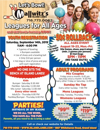 Leagues for All Ages